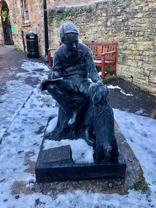In Edinburgh, a statue of Robert Louis Stevenson as a boy