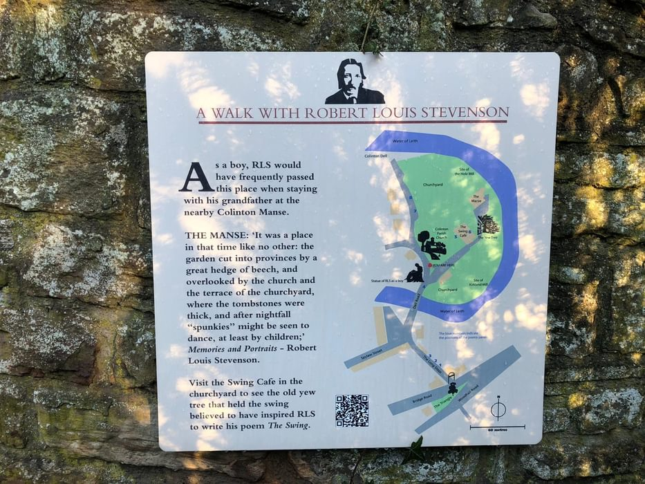 Trail sign for 'A Walk with Robert Louis Stevenson'