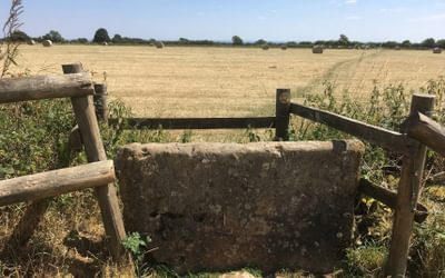 Basic stone stile in the Cotswolds