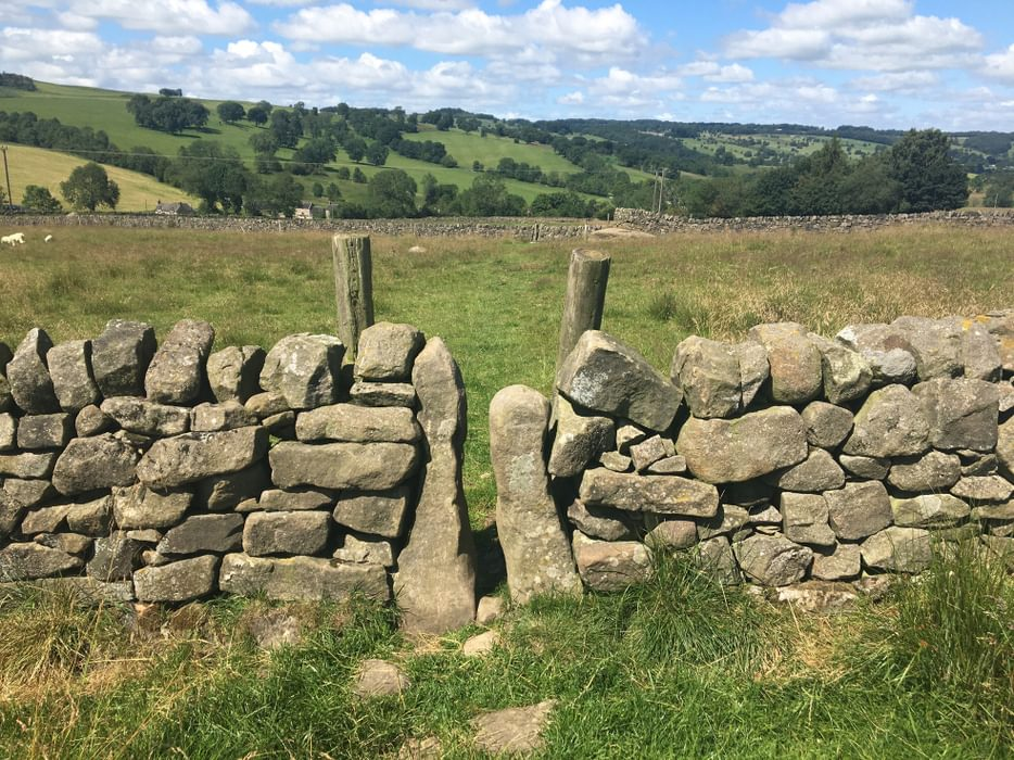 Traditional squeeze stile in the Peak District