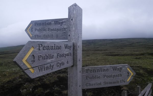 Paddy finishes the Pennine Way