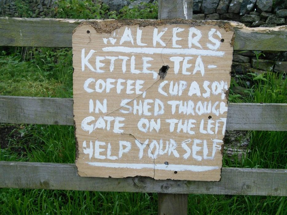 Trail Angels At Horneystead Farm Invite Walkers To Relax And Help Themselves To Drinks And Snacks
