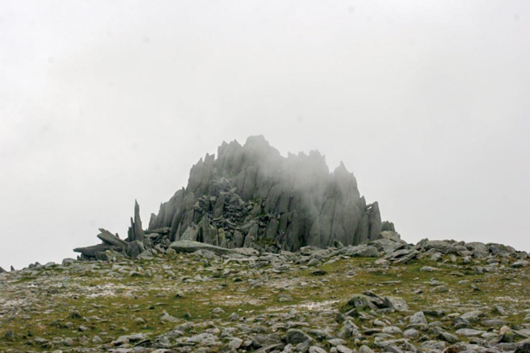 Castell Y Gwynt Wreathed In Mist