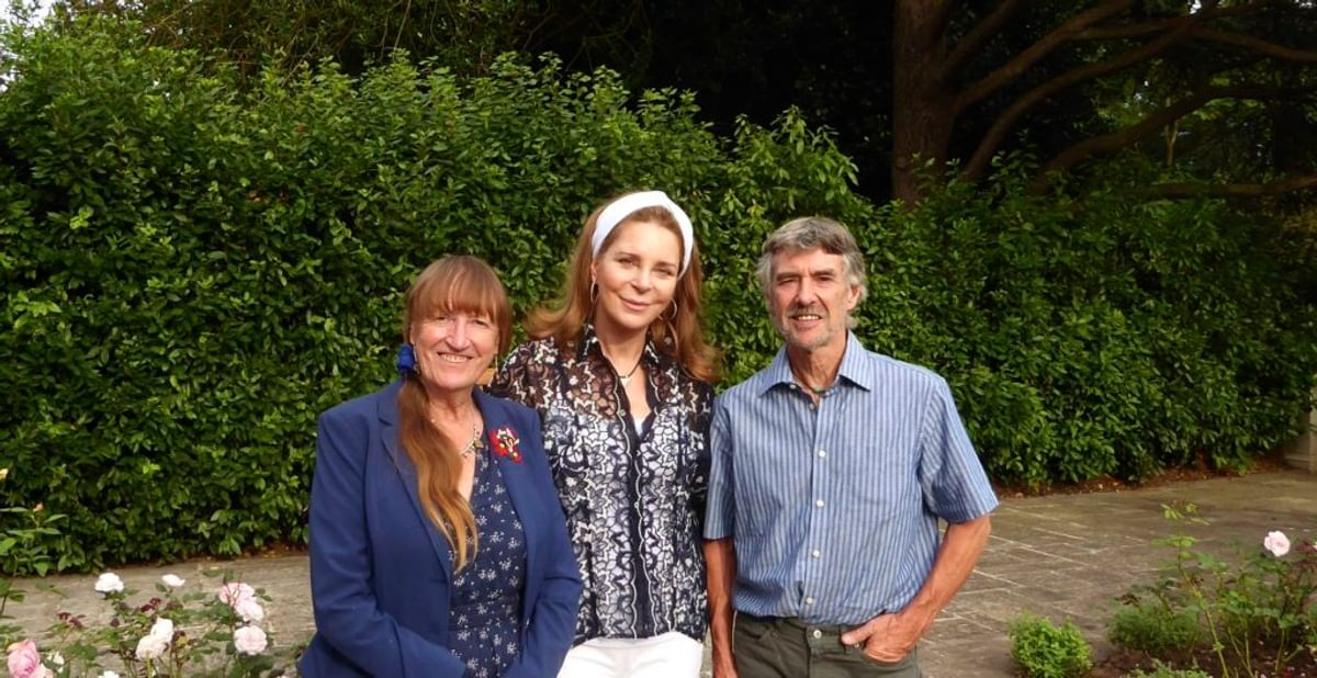 Di And Tony With Queen Noor