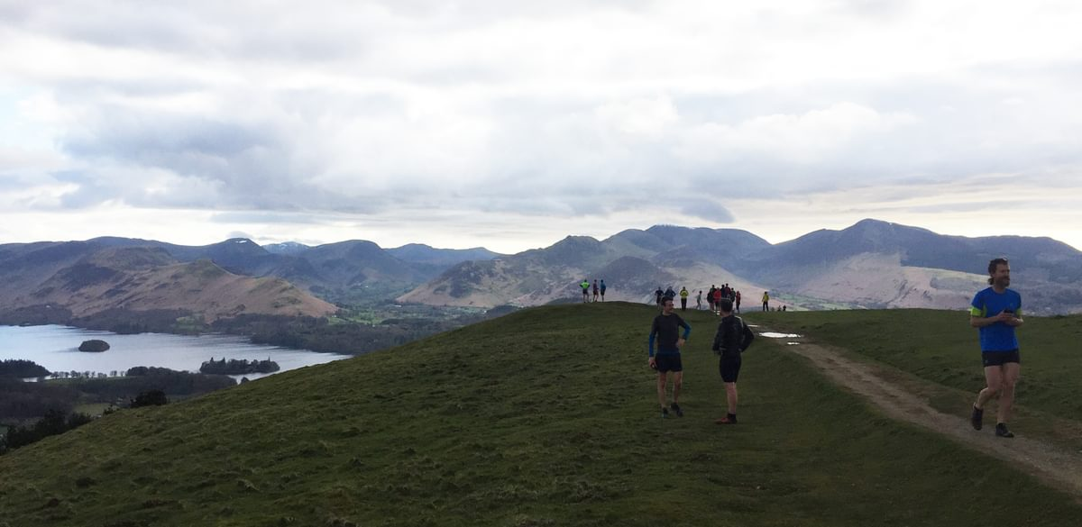 On Top Of Latrigg Derwent Water Behind