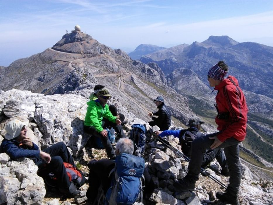 Jaume On The Right With Some Of His Collaborators On Top Of Penyal Des Migdia