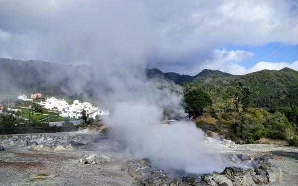 """""""Mustn't land myself in hot water! Geothermal springs at Furnas on the island of São Miguel."""""""