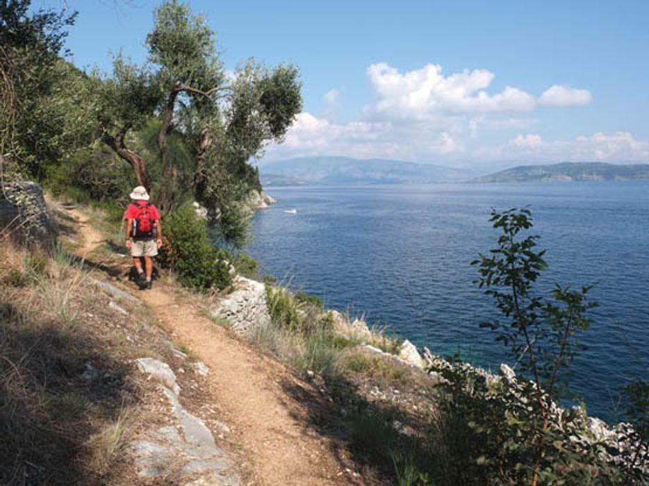 Walking on Corfu by Gillian Price