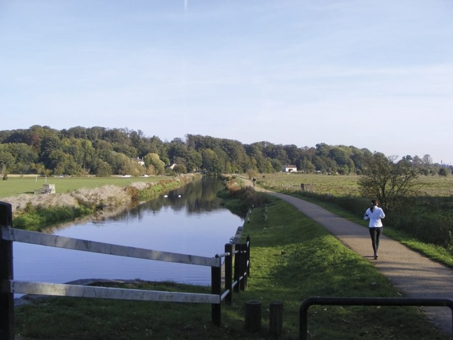 Towpath at King's Meads in the Lea valley