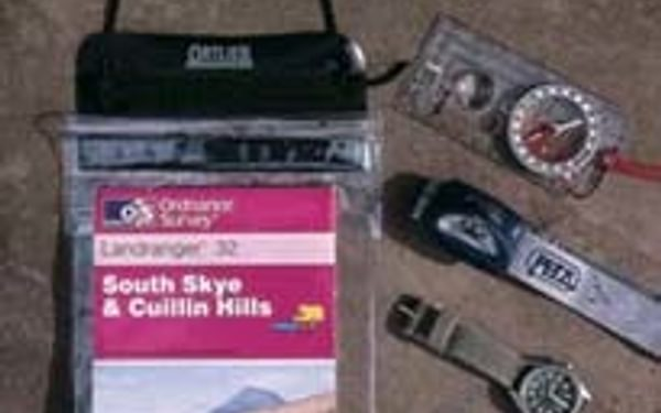 Basic Navigation Equipment For A Mountain Walk