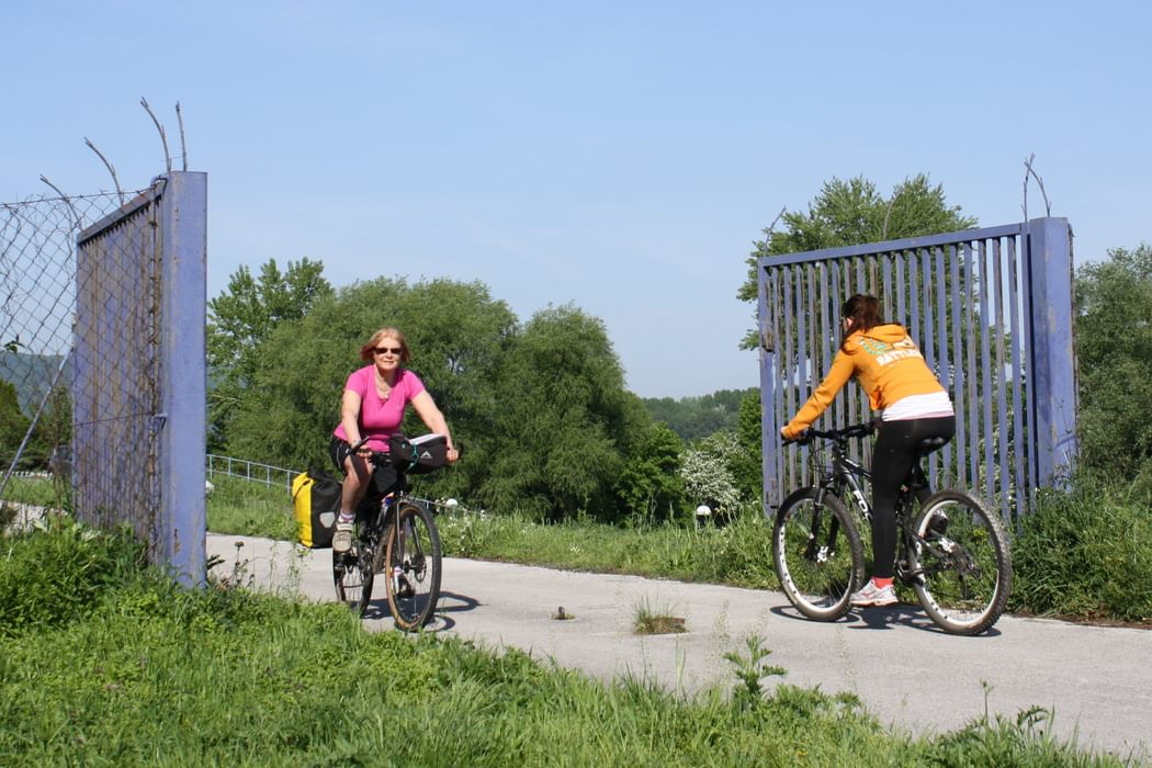 The gates that once marked the Iron Curtain are now permanently open