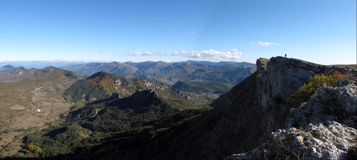 A View To The Alps From Montagne De Chamouse