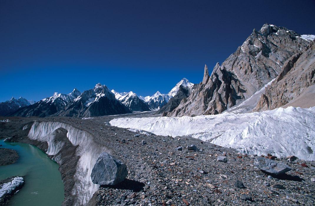 Glacial river in the Himalaya