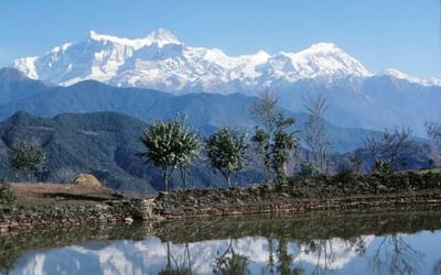 Annapurna II and Lamjung from Naudanda
