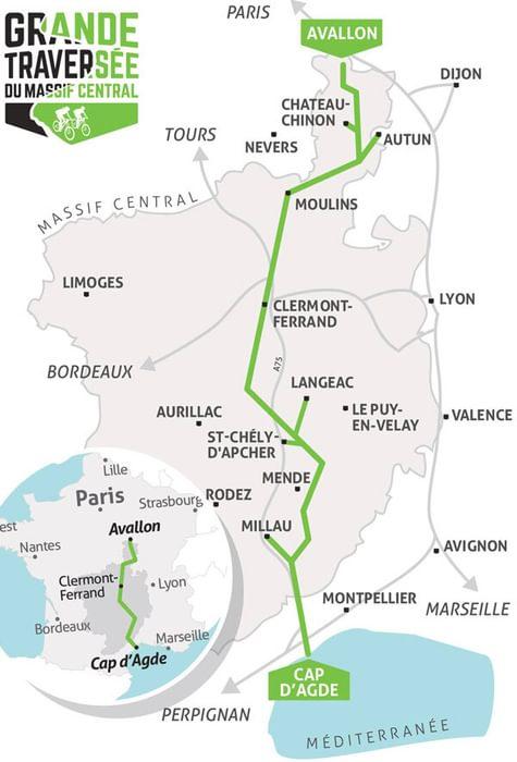 Itineraire grande traversee massif central 2018