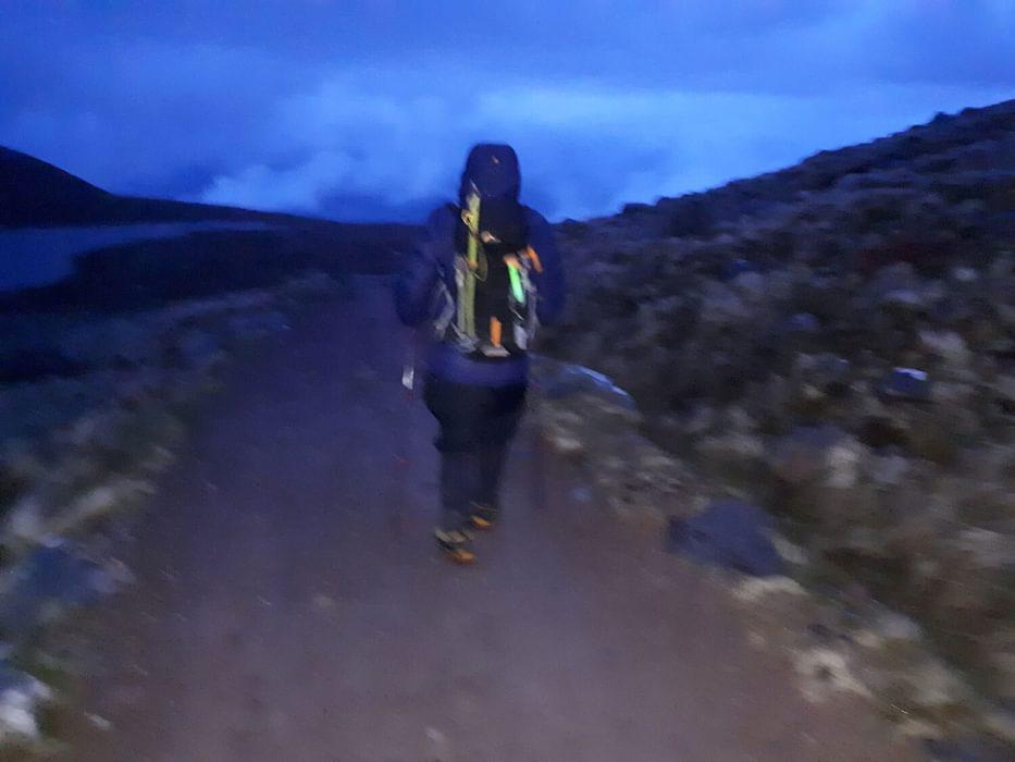 Ben Nevis just before dawn