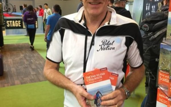 Here Is Author Nick Mitchell With His Book On The End To End Cycle Route