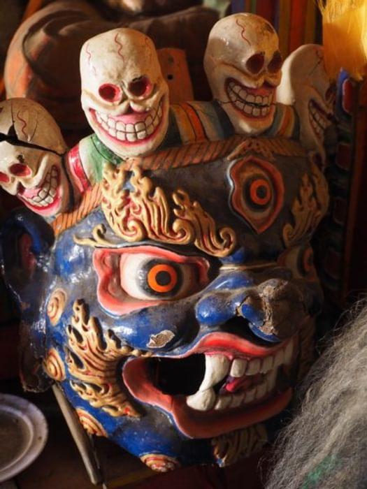 Dancing Masks At Thongdrol Bon Monastery Chharka Bhot