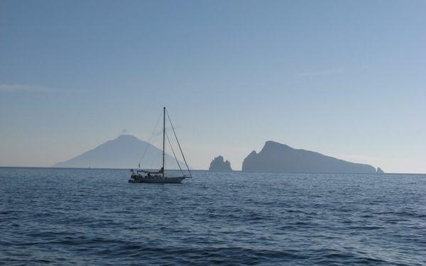 Early Morning Views Of Stromboli And Basiluzzo