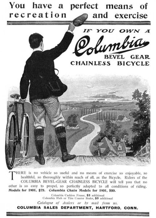 Bike advertisement Columbia