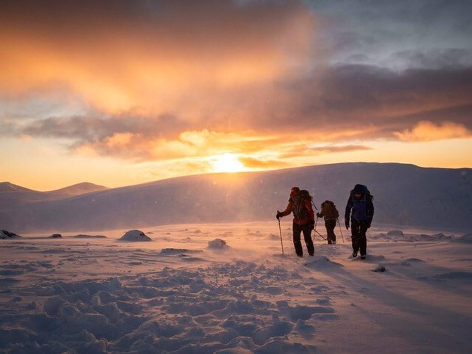Alex Mecalf Winter sunset Central Gulley