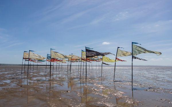 Beach of Dreams flags on Shoeburyness beach