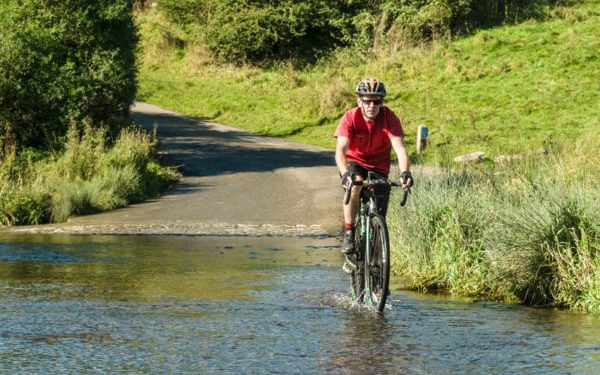 Cycling Across The Tissington Ford