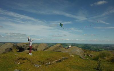 High Altitude Flying On Top Of Ilkley Moor