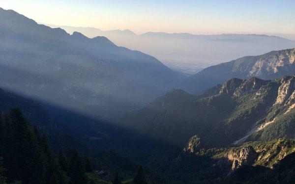 Stunning views in the southern Dolomites on AV2