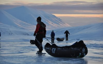 Fluctuations in temperatures change the structure of the surface and forces us to adapt by using snowshoes.