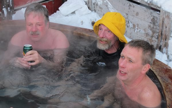 Hot-tubbing in the deep cold.