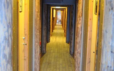 Modernised miner's cabins