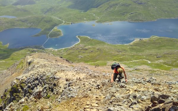 Looking Down The East Ridge Of Crib Goch