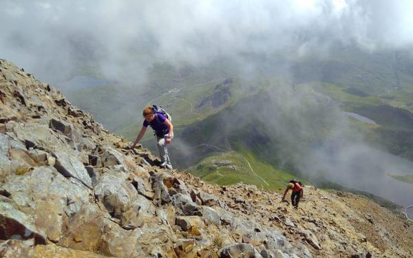 On The Way Up Crib Gochs East Ridge