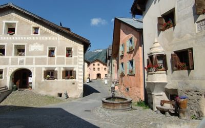 The old Romansch village of Guarda