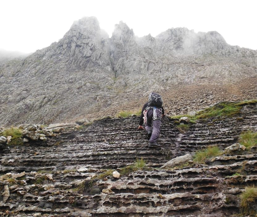 Approaching Crazy Pinnacle Gully On Crib Goch One Of The False Leads And Too Hard To Make The Cut