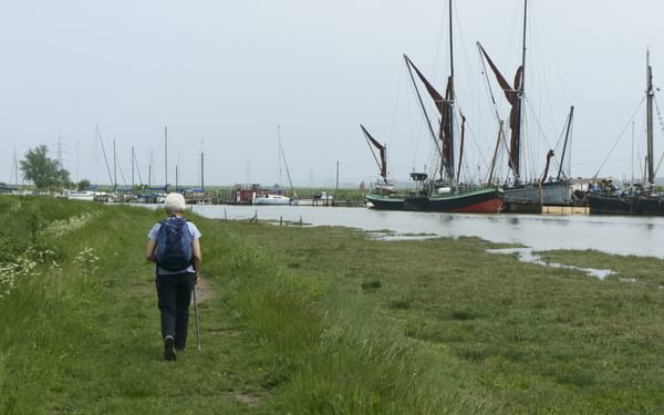From Faversham A Creek Entices A Walk To The Swale