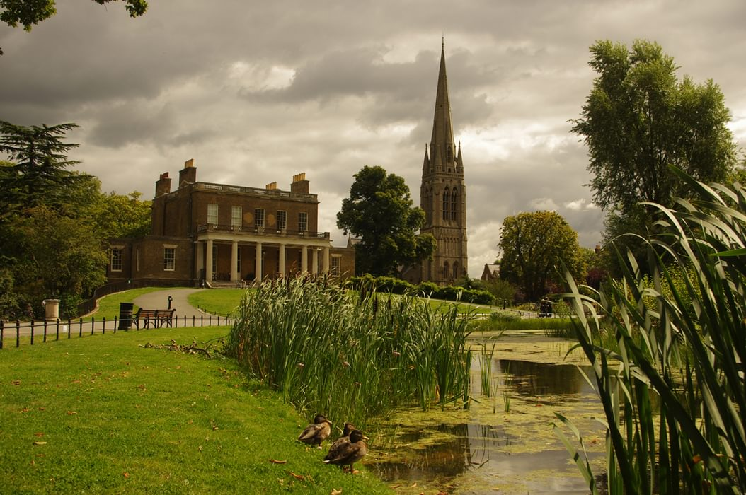 Clissold Park Showing Clissold House The Church And The Original Course Of The New River