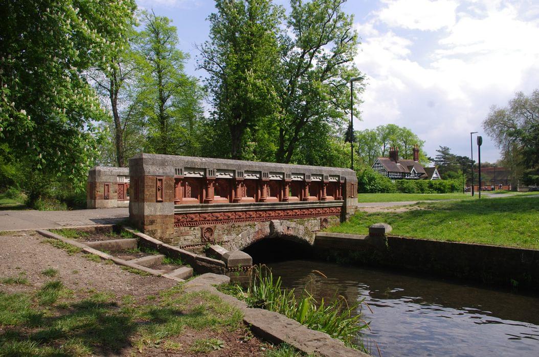 The Terracotta Bridge Over The Wandle In Beddington Park