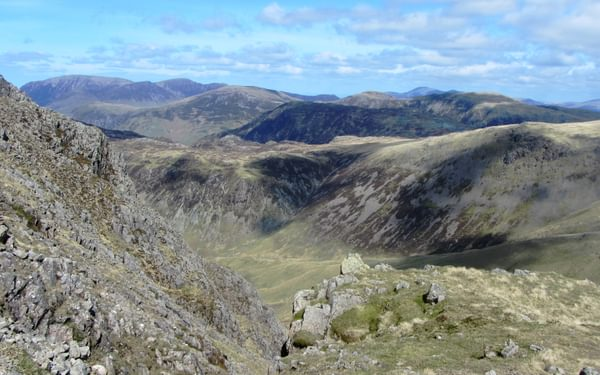 View North On The Way Up Kirk Fell