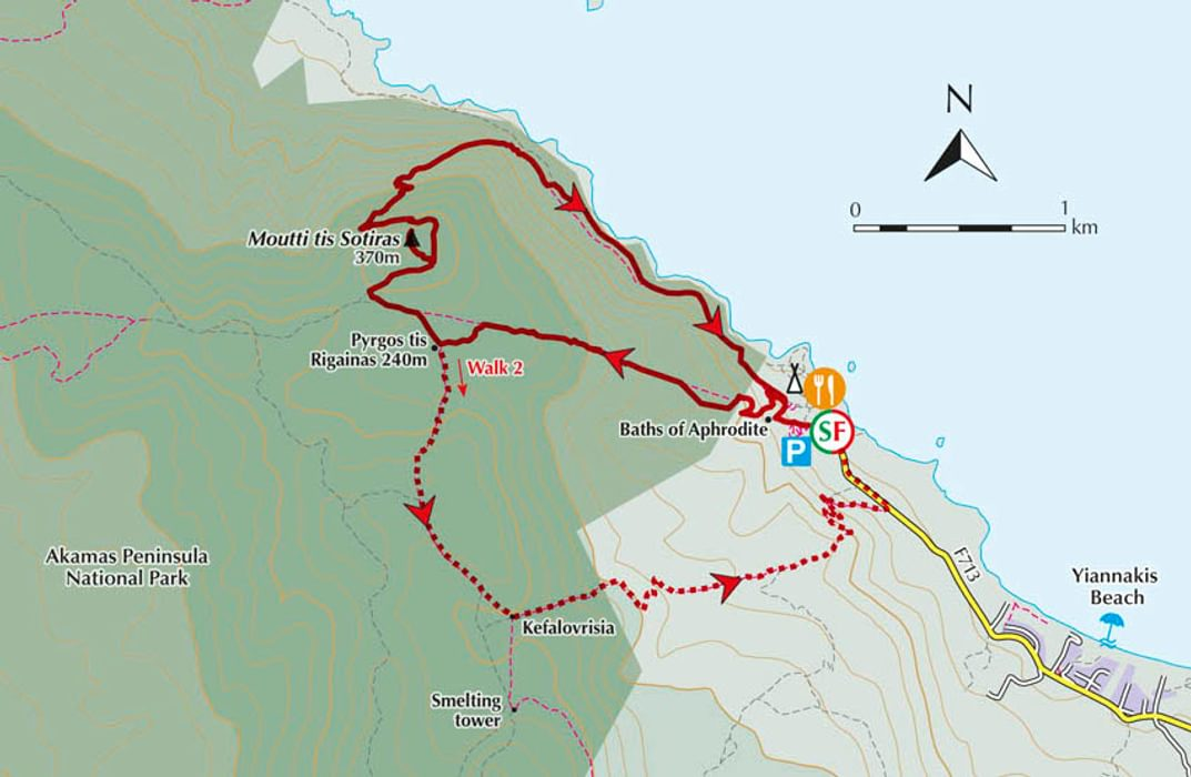 From Walking in Cyprus, Walk 1: The Aphrodite Trail