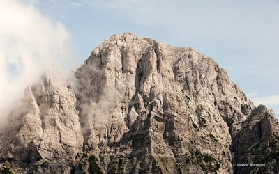 Peaks Of The Balkans  Peak Near The Valbona Pass Albania  Rudolf Abraham