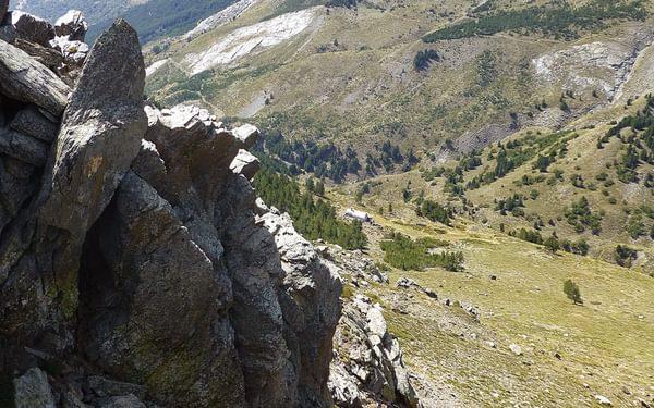 17 The Refugio Cebollar From Near The Summit Of Las Alegas