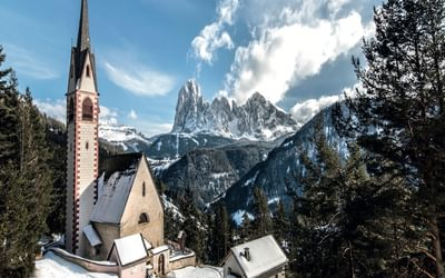 The beautiful and idyllic church of San Giacomo
