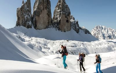 The much coveted and iconic Tre Cime north faces