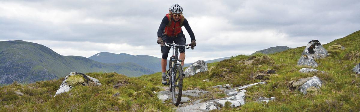 Great singletrack on route for Fersit, west Scotland