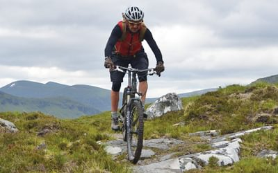 Great singletrack on route for Fersit, west Scotland