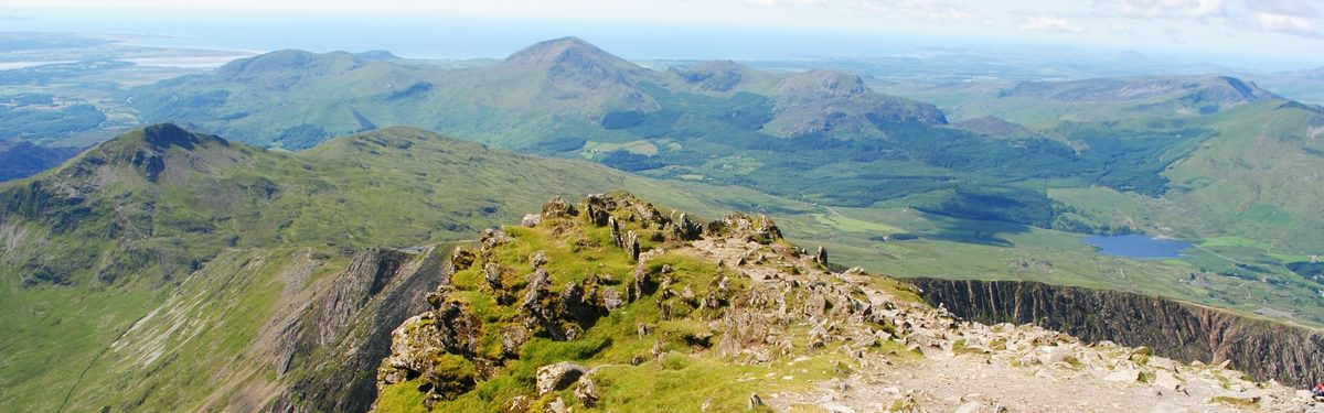 View south from Snowdon, on the Snowdonia Way