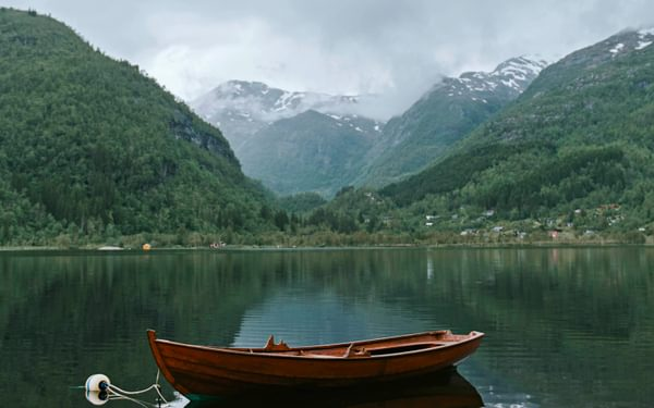Norwegian fjords and mountains