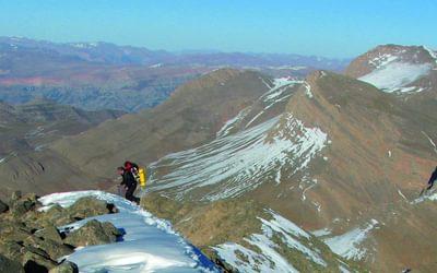NE ridge of Azurki, looking west towards Aroudan (3359m)
